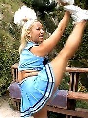 dude nails big butt cheerleader chick