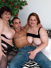 Marta Erzsebet, Janos Daniel, and Nagy Agnes have a fat threeway!