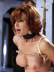 Our little Nympho MILF is learning a little about grace under pressure on her journey through the Training of O. She is also getting fucked in the ass allot. In this installment, Veronica Avluv is taken back to the dungeon where she must prove herself worthy to return to a plush, domestic setting.Avluv is first made to suffer the cowgirl trainer, a simple device designed to make or break a slave girls ability to 'Do The Work'. Once past this trial, she may proceed to getting some real cock. First her face is brutally fucked in a blaze between masturbation, pussy control and deep throat skills.TTOO is famed for it's brutal cowgirl fucks, and Veronica applies herself to the task with a vengeance. Once her pussy is heated, she can accomplish anything, and she slams that huge gimp dick with her pretty little pussy for all she is worth.When we finally sink that cock into her waiting asshole, she cannot control the overwhelming orgasms and she is gone. Watching this slut get her ass pounded into oblivion in the name of servitude has a poetic justice to it. Is she good enough? You decide.