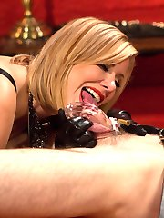 It's a new year and 2015 is going to be my most wicked yet! I ring in the year by getting my hands on a young stud and destroying his mind. I whip him into submission and then penetrate him so deep he cries with torturous pleasure. I rock my hips back and forth touching every sensitive spot in his ass and milking his prostate relentlessly. Orgasm after orgasm he enjoys without the sweet release of ejaculation. Instead I slap a chastity belt on his aching prick and fuck it with my wet cunt giving me sweet release while my poor slave continues to ache in his chastity belt.Happy New Year!Maitresse Madeline Marlowe