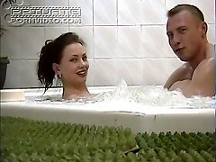 Young couple in naughty hardcore act in jacuzzi