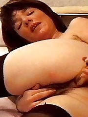 Steaming Towheaded Cassie in Dildo Hairy Pussy Fucking