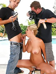 Super hot big tits blonde katie stark takes on 2 cocks in this hot gang bang big tits milfy update
