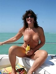 Hot Teen with a HOT Milf playing on a speed boat