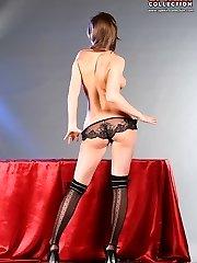 Hot fooling around of underwear girl