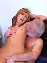 Old dick plays with young cootchie