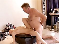 Blindfolded babe gets cock