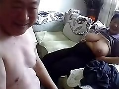 Old Japanese Duo Get Naked and Fuck on Cam