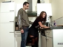 Step-Son Seduce MILF Mom to Penetrate and Cum on Tights