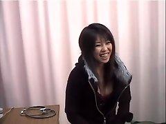 Smoking hot Japanese gal banged during her poon exam