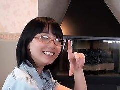 Japāņu Brilles Meitene Blowjob