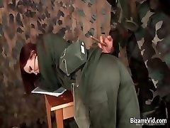 Steamy red haired getting slapped partTrio