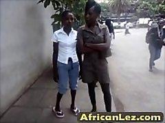 Dirty ebony cocksluts having lesbo fun in bathroom