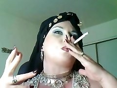 Goddess Bella Donna,a bbw smoking gypsy Queen.
