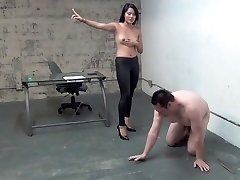 asian boss ball busting serf