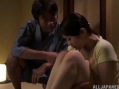 Hot Asian milf Asami Nanase gives a face fucking