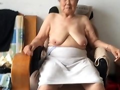 Asian 80+ Granny After baths