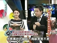 Chinese actress in a broadcast widening toes