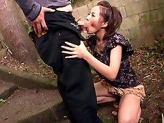 Slutty Japanese model Ruri Saijou in Exotic JAV censored Swallow, Gangbang scene