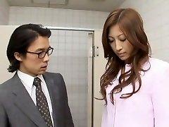 Astounding Japanese girl Leila Aisaki in Excited Voyeur, Handjobs JAV movie