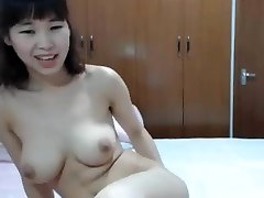 chinese big tit finger her booty