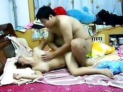 Asian Couple Having Sex
