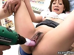 Harsh medical check-up of her wet pussy