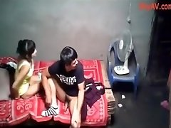 School College Party Chinese Orgy