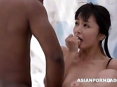 Asian drill by two black pricks - ASIANPORNDADD