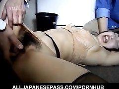 Chinese AV Model has hairy crack roughly screwed by two men