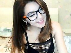 brunette stunner being playful on webcam