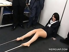 Fancy Japanese honies stripping stockings