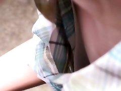 Adorable asian female gets filmed by voyeurs