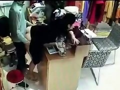 Manager has sex with worker behind cash register in China