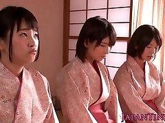 Spanked japanische teenager Königin dude beim wichsen ihn ab