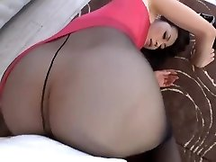 Maki Hojo Taunting And Fucking In Stocking Uncensored