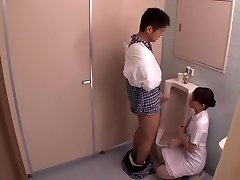 Miku Shirosaki, Rina Serino, Airi Minami in Hanjob Helping Nurse Three part Two