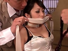 Classy cutie gets had threesome poke after dinner