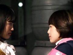 Mika Kikuchi and Mayu Kawamoto Girl-on-girl Smooch