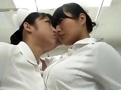 japanese catfight Nurse tights fight Battle