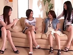 Japanese Penis Shared by Gang of Horny Girls 1