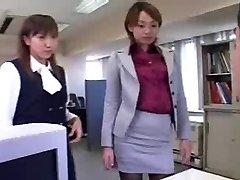 CFNM - Femdom - Humiliation - Asian Chicks in Office