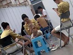 Candid Chinese Hostess Nylon Feet