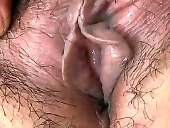 Japanese Granny shows Fun Bags and Pussy