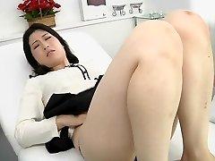 Japanese girl-girl erotic spitting rubdown clinic Subtitled