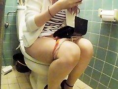 Asian junior damsel restroom pt 2