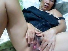 Philippinisch granny 58 fucking mir dumm vor der cam. (Manila)1