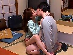 Hottest Japanese mega-bitch Akiho Yoshizawa in Horny kitchen, couple JAV scene