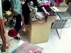 Chinese holder have hookup during service hours