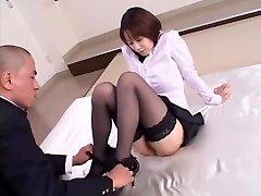 Crazy Japanese girl Misa Nishida in Exotic Cunnilingus, Stockings JAV clamp